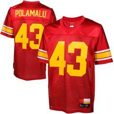 908e565162c ... Troy Polamalu USC Trojans 43 Legends Jersey - Cardinal ...
