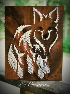Embroidery On Paper Fox / wolf string art ! String Art Diy, String Crafts, Arte Linear, Art Rupestre, String Art Patterns, Doily Patterns, Dress Patterns, Art And Hobby, Paper Embroidery
