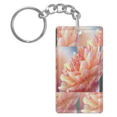 Touch Of Orange Flowers Key-chain #zazzle #orange #flowers #keychain