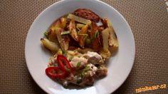 Kuřecí nudličky s pórkem a opékaným bramborem Tacos, Mexican, Ethnic Recipes, Food, Essen, Meals, Yemek, Mexicans, Eten