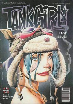 Manga Tank Girl Magazine #8 (1995) cover by Brian Bolland