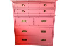 Coral Faux-Bamboo Chest - One Kings Lane - Vintage & Market Finds - Furniture