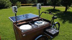 #Summer portable DJ setup, with self powered speakers and energy, #EnviromentalFriendly, as Genelec. Thank you very much Antti Lahti and Panu Varstala #Jyväskylä