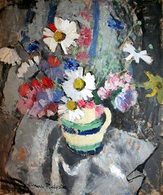 Anne Redpath 1895-1965 Still Life – Flowers In A Vase