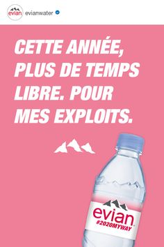 evian natural mineral water originates from rain and snow deposited on the catchment area, a millennia-old site in the heart of the French Alps surrounded by mountains and glaciers. Natural Mineral Water, In The Heart, Time Out, Cleanser