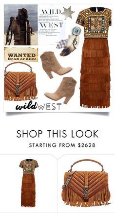 """""""Western babe"""" by anchilly23 ❤ liked on Polyvore featuring Burberry, Yves Saint Laurent, Gianvito Rossi, cowgirl, fashiontrend and wildwest"""