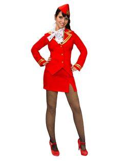 Sexy Stewardess Kostüm rot - Artikelnummer: 505870000 - ab 38.99EURO - bei Karneval-Megastore.de!