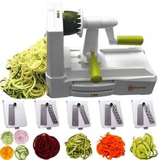 Buy Brieftons Spiralizer Strongest-and-Heaviest Duty Vegetable Spiral Slicer, Best Veggie Pasta Spaghetti Maker for Low Carb/Paleo/Gluten-Free, With Extra Blade Caddy & 3 Recipe Ebooks Eating Vegetables, Fruits And Veggies, Raw Food Recipes, Gluten Free Recipes, Veggie Recipes, Delicious Recipes, Keto Recipes, Zoodle Maker, Importance Of Healthy Eating