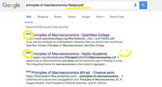 """Forgot your textbook at home? Google the name of the textbook   """"filetype:pdf""""…"""