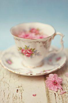 """Tea & Blossoms "" by HayleyJohnson   Redbubble"