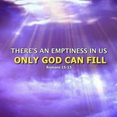 Only God can fill!