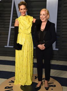 Inside the Hottest After-Parties of Oscar Night - Sarah Paulson and Holland Taylor from InStyle.com