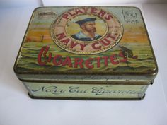 """PLAYERS NAVY CUT"" Tobacco tin"