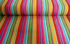 multi stripe deck chair canvas fabric