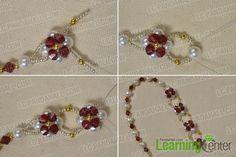 Jak si vyrobit docela červené a bílé korálků květina náhrdelník