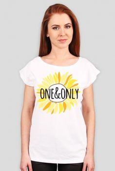 Słonecznik - damski t-shirt - sunflower - one&only