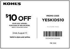Kohl's coupon: $10 off $30 Kid's Apparel purchase (in-store and online) - Money Saving Mom®