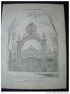 LA CONSTRUCTION MODERNE 1901.. GRILLE Du PALAIS De L'ELYSEE, à PARIS ( 75) Architecte A. BERNARD - Architecture