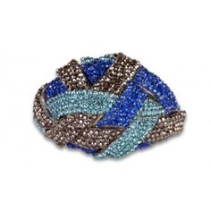Jewelry Galore - Large Knot in Blue & Black Bracelet - $77 #jewelry #women #fashion #knot #beautiful #unique