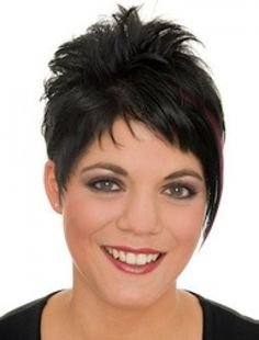 Funky spiky pixie style with fringe