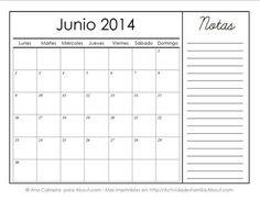 http://actividadesfamilia.about.com/od/Calendarios/ss/Calendarios-Imprimibles-Del-2014-Con-Espacio-Para-Notas_6.htm