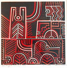 Paratene Matchitt - Te Kooti Series - Screen Print, abt 1967 - New Zealand New Zealand Art, Jr Art, Maori Art, Australian Art, Art Auction, Contemporary Paintings, Painting & Drawing, Printmaking, Abstract Art