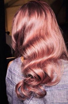 Super pretty rose gold hair