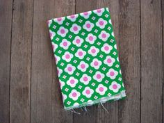 Vintage 1960s Upholstery Fabric Cotton Broadcloth by bycinbyhand, $24.00 #bycinbyhand #cinsfreshpicked #Fabric  #Mod  #Psychedelic  #UpholsteryFabric  #1960s  #Broadcloth  #HotPink #appleGreen  #Flower  #Geometric  #childsroom  #curtain #vintagetextiles