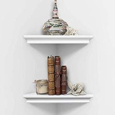 white corner shelves - Google Search