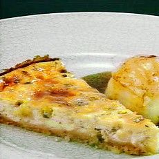 Warm Roquefort Cheesecake with Pears in Balsamic Vinaigrette