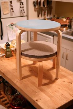 How To Make a Great Side Table from IKEA Frosta Stools — Home Hacks   Apartment Therapy