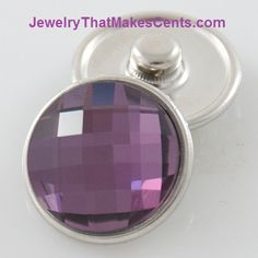 Snap Jewelry Purple Crystal Snap -  Only $2 on my website. Browse many base jewelry options at very reasonable prices.  100s of snaps to select from.  www.JewelryThatMakesCents.com PURCHASE $15 OR MORE AND RECEIVE A FREE $2 SNAP. Message me on my fan page for details about your free snap or with any questions you may have. https://www.facebook.com/SnapJewelryOnABudget #snapjewelry