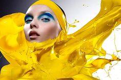 UM BANHO DE COR - IAIN CRAWFORD.    Efectua diversos trabalhos no mundo da moda, sendo comum vermos fotografias associadas a marcas como L'Oreal, Givenchy, Harpers Bazaar e Vogue. Conheça as propostas inusitadas do londrino Iain Crawford.