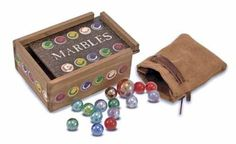 "Past-Tyme Classics Marbles by Melissa & Doug. $15.99. From the Manufacturer                We've enhanced these favorite board games with nostalgic flair. Each of these heirloom-qualities, solid-wood games is painstakingly hand-crafted, self-stores all pieces, and is specially designed to hang on game-room walls or beautifully decorate any accent table. Recommended for children ages above 6 years. They contain 40 marbles, 1 shooter and measure 5"" x 4"" x 2"".             ..."