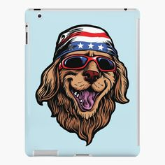'American Golden Retriever' iPad Case/Skin by LazyKoala American Golden Retriever, Canvas Prints, Art Prints, Cotton Tote Bags, Ipad Case, American Flag, Finding Yourself, My Arts, Printed