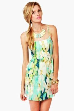 Mint Green Floral Dress - Print Dress #mint #dress www.loveitsomuch.com