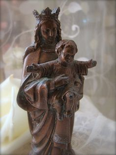 This is a  beautiful! French Madonna and Child Statue from mypetitemaison on Etsy. Such wonderful items in this shop!