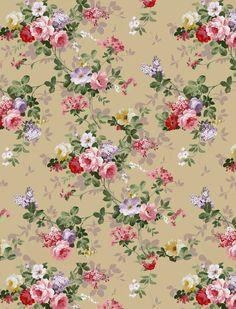 Vintage Flowers Wallpaper, Victorian Wallpaper, Flower Wallpaper, Iphone Wallpaper, Flower Pattern Design, Flower Patterns, Floral Printables, Watercolor Rose, Background Vintage