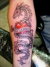 dragon heart tattoos | Girl tattoos design