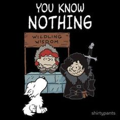 Snoopy meets game of thrones! Snoopy as a direwolf... #gameofthrones