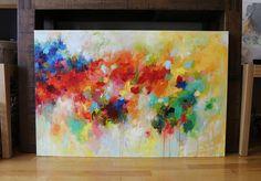 ORIGINAL abstract painting ORIGINAL painting blue by artbyoak1