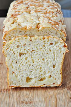 Quick Cheese Bread -- I think I would make it with Asiago inside instead of cheddar, though.