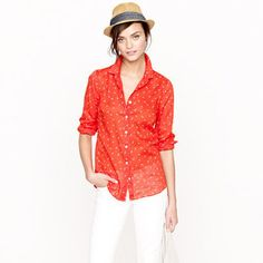 ShopStyle: Perfect shirt in anchors and horseshoes