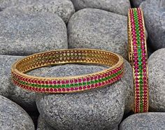 Beautiful Bangle Designs, Beautiful Stone Bangle Designs.