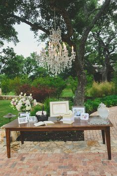 Great pre-ceremony idea... guests can fill out well wishes to the happy couple   (Added bonus - preceremony refreshments)