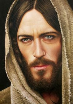 Jesus Cristo by fabianoMillani on deviantART ~ hyper-realistic oil painting {this image from Jesus of Nazareth mini-series portrayed by Robert Powell} Jesus Christ Painting, Jesus Drawings, Image Jesus, Realistic Oil Painting, Jesus Tattoo, Pictures Of Jesus Christ, Creation Photo, Jesus Face, Biblical Art