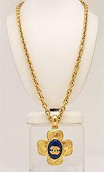 Vintage Signed Chanel 96A Pendant Necklace