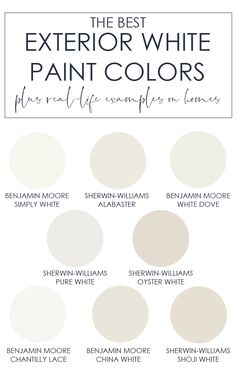 A collection of the best exterior white paint colors to use on your house! Inclu… A collection of the best exterior white paint colors to use on your house! Includes warm and cool white tones along with real-life examples of… Continue Reading →