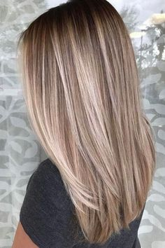 Hair Styles 2018 51 Ultra Popular Blonde Balayage Hairstyle & Hair Painting Ideas Discovred by : Style Estate Blonde Hair Looks, Brown Blonde Hair, Light Brown Hair, Blonde Straight Hair, Sand Blonde Hair, Black Hair, Straight Bob, Thin Hair, Brown Hair Balayage Blonde