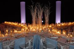 Night time outdoor party or reception at Hilton Orlando.